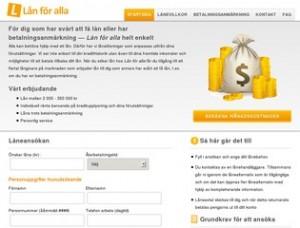 Screenshot Lanforalla.se