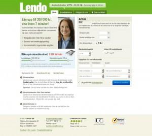 bild på Lendo Webbplats