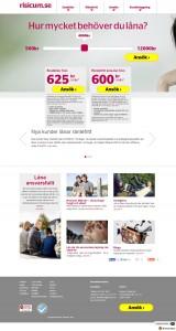 hemsida för riscum lån